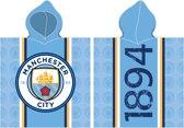 Manchester City - bad Poncho - 60x120 cm - Blauw