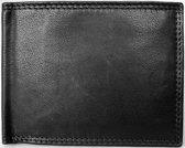 Lundholm RFID leren portemonnee heren leer zwart compact model zeer soepel leer - portemonnee RFID anti-skim - cadeau voor man