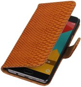 Wicked Narwal   Snake bookstyle / book case/ wallet case Hoes voor Samsung Galaxy A3 (2016) A310F Bruin