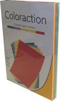Coloraction Rainbow gekleurd kopieerpapier A4 80 gram assorti Intensieve kleuren 250 vel