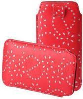 Bling Bling Sleeve voor uw Nokia X, Rood, merk i12Cover