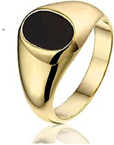 Montebello Ring Riverside - Heren - Zilver Verguld - Onyx - 11 mm - Maat 60 - 19