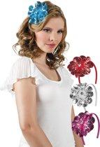 48 stuks: Tiara Fleurette in 4 kleuren - assorti