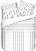 VISION Martin White - Dekbedovertrek Tweepersoons - 200x200cm - 100% Katoen