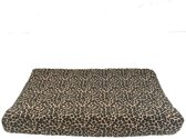 Aankleedkussenhoes tricot leopard panter creme - MOnsjes