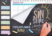 Family planner XL 2020 - Familieplanner Omlegkalender - Krijtbord - 34 x 24,5 cm