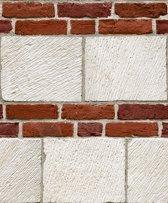 Dutch Wallcoverings vinylbehang beton/baksteen - rood