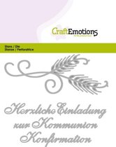 CraftEmotions Mal Tekst - Einladung Kommunion Duits  Card 11x9cm