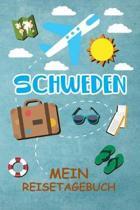 Schweden Reisetagebuch: Gepunktetes DIN A5 Notizbuch mit 120 Seiten - Reiseplaner zum Selberschreiben - Reisenotizbuch Abschiedsgeschenk Urlau