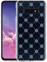 Galaxy S10e Hoesje Snowflake Pattern