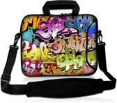 Laptoptas 17,3 inch graffiti kleurrijk - Sleevy