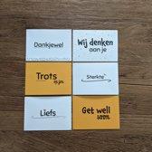 Beterschapskaarten A6 - beterschapskaartjes - ansichtkaarten - wenskaarten - set van 5