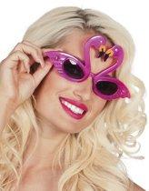 Roze flamingo bril voor volwassenen - Verkleedattribuut