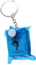Toi-toys Sleutelhanger Tasje Met Kaartenset 5 Cm Blauw