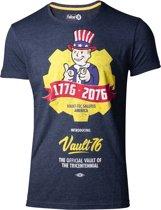 Fallout 76 Vault 76 Poster T-Shirt Blauw / Geel