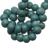 Glaskralen Stonewash (4 mm) Teal (110 Stuks)