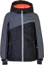 Icepeak Hilde Ski Jas  Wintersportjas - Maat 152  - Meisjes - zwart/grijs