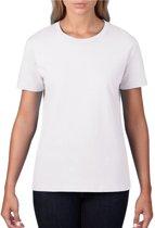 Basic ronde hals t-shirt wit voor dames - Casual shirts - Dameskleding t-shirt wit XL (42/54)