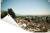 Uitzicht op de Tunesische ruïnes van Carthago in Afrika Tuinposter 120x80 cm - Tuindoek / Buitencanvas / Schilderijen voor buiten (tuin decoratie)