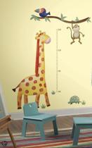 RoomMates Muursticker Giraffe Groeimeter - Multi