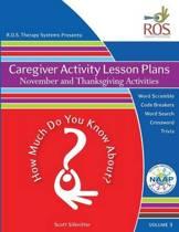 Caregiver Activity Lesson Plans