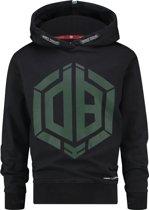 Vingino Jongens Sweatshirt - Deep Black - Maat 128