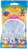 Strijkkralen Hama - 1000 stuks - Glow in the dark blauw