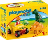 PLAYMOBIL 1.2.3 Dino-onderzoeker met quad  - 9120