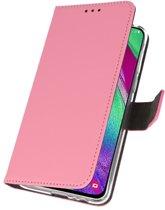 Wicked Narwal   Wallet Cases Hoesje voor Samsung Samsung Galaxy A40 Roze