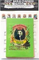 12 Ansichtkaarten Mix - Grappige Klassieke Muziek Dieren - Great Animal Composers