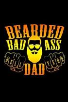Bearded Badass Dad: 110 Game Sheets - Four in a Row Fun Blank Games - Soft Cover Book for Kids for Traveling & Summer Vacations - Mini Gam