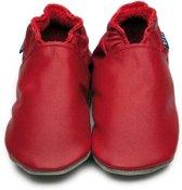 Inch Blue babyslofjes plain red maat 4XL (19 cm)