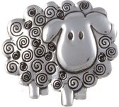 Brooch Swirly sheep ,schapen broche van st justin
