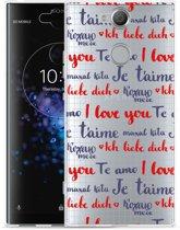 Sony Xperia XA2 Plus Hoesje I Love you