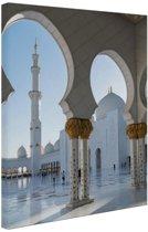Sjeik Zayed-moskee Canvas 40x60 cm - Foto print op Canvas schilderij (Wanddecoratie)