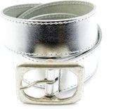 Kidzzbelts Meisjes Jeans kinderriem 1202 - Zilver - 55 cm