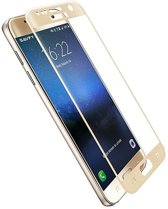 Tempered Glass for Samsung S7 Full Printed - Gold