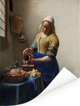 Het melkmeisje - Schilderij van Johannes Vermeer Poster 30x40 cm - klein - Foto print op Poster (wanddecoratie woonkamer / slaapkamer)