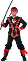 Rode Ninjakrijger Pakje Jongens - 152