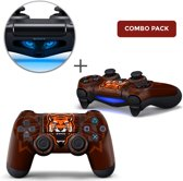 Gamer Tiger Combo Pack - PS4 Controller Skins PlayStation Stickers