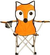 Abbey Stoel Vouw Kinder - Animal Comic - Oranje/Grijs