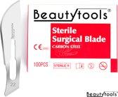 Pedicure / Bistouri messen - NR. 22 (100 Stuks - individueel/steriel verpakt)