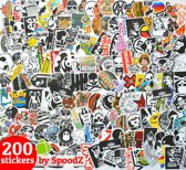 Stickers 200 stuks | Vinyl Sticker Set | Laptop Autostickers | KMST004