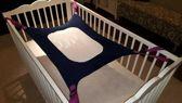 Babyhaantje® Premium Baby Hangmat - Hangmatten - Fleece - Nylon - Safe - Wieg - Baby Nestje - Box Kleed - Blauw