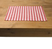 In the Mood Karo Placemat - 33 x 45 cm - 4 stuks - Rood