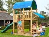 Jungle Gym - Farm Mini Picnic 160 - Houten Speelset voor Buiten - Met Glijbaan - Donkergroen