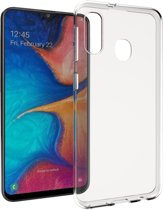 Accezz Clear Backcover voor de Samsung Galaxy A20e - Transparant