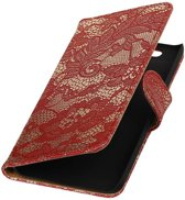 Huawei Nexus 6P Rood | Lace bookstyle / book case/ wallet case Hoes  | WN™