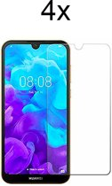Huawei Y5 (2019) Screenprotector Glas - Tempered Glass Screen Protector - 4x - LuxeRoyal