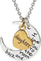 Fako Bijoux® - Ketting - Daughter, I Love You To The Moon And Back